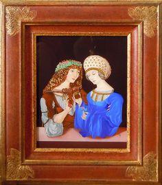 Encadré Reverse painting on glass - Peinture sous verre - Hinterglasmalerei