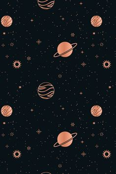 This starry, celestial pattern set consists of 12 seamless vector patterns that were made with elements from my Stars & Celestial Bodies Graphic Pack: . Space Phone Wallpaper, Planets Wallpaper, Homescreen Wallpaper, Graphic Wallpaper, Iphone Background Wallpaper, Retro Wallpaper, Dark Wallpaper, Galaxy Wallpaper, Disney Wallpaper