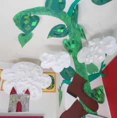 Resultado de imagen de Jack and the beanstalk art ideas Classroom Displays, Classroom Themes, Library Displays, Classroom Organization, Eyfs Jack And The Beanstalk, Fairy Tales Unit, Writing Corner, Fairy Tale Theme, Traditional Tales
