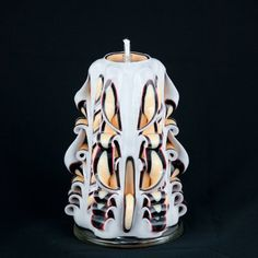 Carved Candle  Beige Candle  Multicolored by NewYorkCandleFactory, $22.95