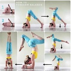 YOGA How to forearm balance