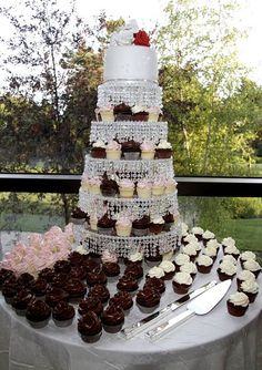 Wedding mini cupcake tower | Flickr - Photo Sharing!