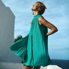 Curtinho @anthropologie: plissado, leve, feminino, chic!CAB loved it! ☕❤ #cabloves #dress #look #euquero #chic #cool #moda