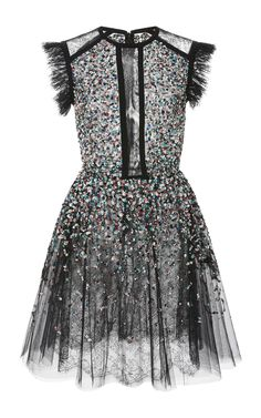 Beaded Embroidered Tulle Dress by ELIE SAAB Now Available on Moda Operandi