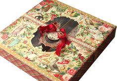 Twelve Days of Christmas card box project sheet from Gloria Stengel (at bottom of blog) #graphic45 #projectsheets #tutorials