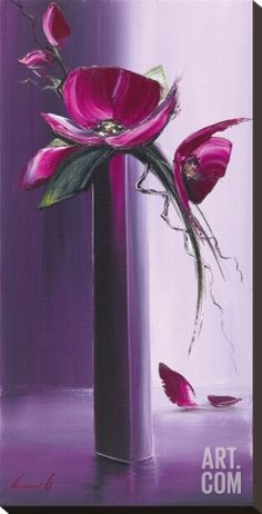 Art.fr - Tableau sur toile 'Elegance En Mauve I' par Olivier Tramoni