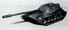 T110 version fifth (T110E5) - Chrysler's proposal of new heavy tank armed with 120 mm gun. Only drawnings and sketches exist