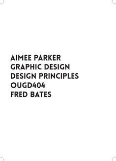 Design Principles  OUGD404