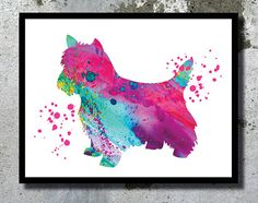 Yorkshire Terrier Watercolor Print Dog Art Print by BogiArtPrint