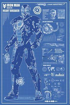 Iron Man Mark 7 Suit Blueprints By RyanHuddle On Etsy