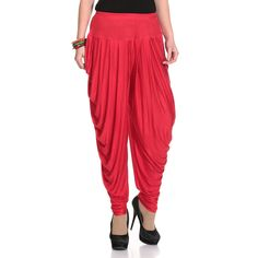 Legis Lycra Red Dhoti for Women: Amazon.in: Clothing & Accessories