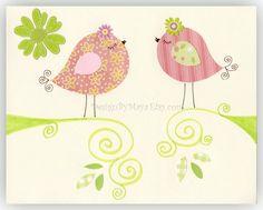 Love+Birds+for+Baby+Girl+Nursery+Room+//+Nursery+by+DesignByMaya,+$17.00