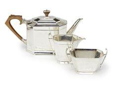 Art Deco Silver Tea Service Roberts & Belk Ltd., Sheffield 1936