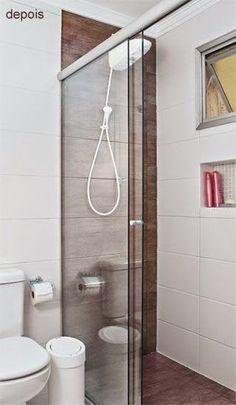 12 Banheiros e lavabos com porcelanato que imita madeira!!