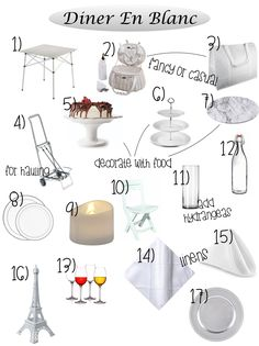 A list of Diner En Blanc must haves curated by Black Girls Who Brunch.