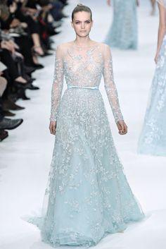 Elie Saab Spring 2012 Couture  Pastel Blue