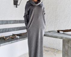 Maxi-Kleid Kaftan mit Taschen drucken / Abaya / Plus Size Kleid / Oversize lose Kleid / #35175