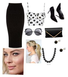 """""""Untitled #125"""" by emma-8bradley ❤ liked on Polyvore featuring Warehouse, Wood Wood, CO and Mikimoto"""