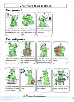règles de vie (en français et à adapter selon le niveau, en espagnol!!)