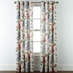 JCPenney Home™ Cotton Classics Floral Grommet-Top Curtain Panel  found at @JCPenney