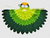 Green parakeet parrot costume for Halloween or Carnival. Fun for toddlers and pre-schoolers. | BHB Kidstyle