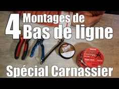 Tuto : Bas de ligne, 4 montages pour la pêche des carnassiers au leurre - YouTube