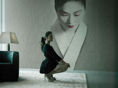 Modern Japanese Geisha Art Wallpaper for Stunning Silent Decor