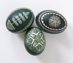 Easter Sunday Lithuanian Scratched Eggs
