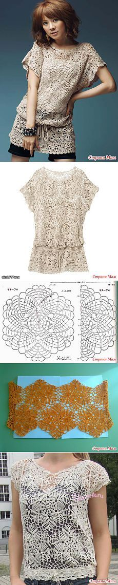 Knit tunic round motifs: Blog group & quot; Knit together on-line & quot; - Home Moms