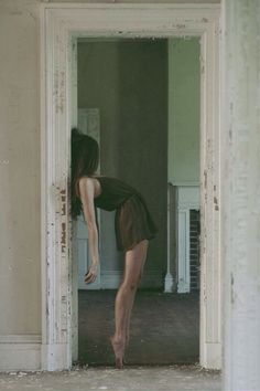 Shape of body against door frame