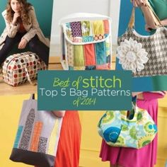 Best of Stitch: Top 5 Bags Sewing Patterns of 2014 Collection