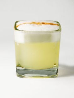 Pisco Sour: 2oz pisco 1oz lime juice ¾oz simple syrup 1 egg white 1 dash bitters