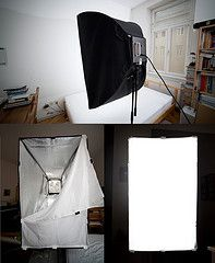 Wish I Had the time and effort to do this....DIY Softbox for CFL lights