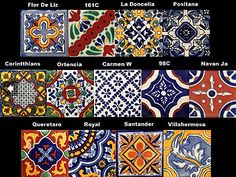 Mexican handmade and hand-painted tiles from Ocean and Marchant House Tiles, Wall Tiles, Mexican Pattern, Inspiration Wall, Hand Painted, Painted Tiles, Timeless Design, Flooring, Ceramics