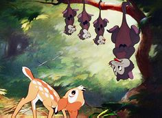 Bambi Opossum discovered by ︎n on We Heart It Disney Love, Walt Disney, Bambi 1942, Opossum, Lions, We Heart It, Deer, Childhood, Disney Characters