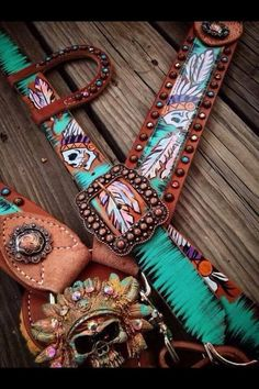 The Indian Belt Tack Set - the cowboy junkie. Found what I'll be saving up for!