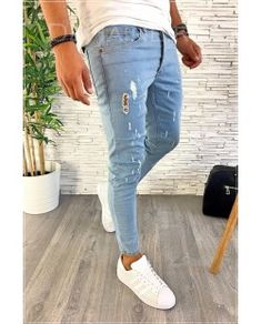 De vanzare for sale small price best quality blue jeans perfect for your outfit blugi barbati perfect pentru tinuta ta men outfit 2018 trend dehaine. Blue Jeans, Skinny Jeans, Pants, Men, Outfits, Fashion, Trouser Pants, Moda, Suits