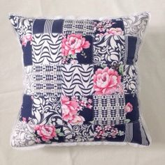 A personal favourite from my Etsy shop https://www.etsy.com/uk/listing/293741283/patchwork-pink-rose-and-navy-blue