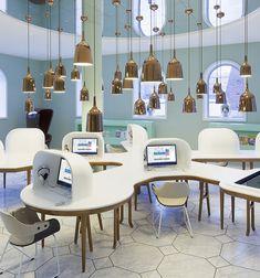 Hanging lighting is interesting--Golden tower Groninger Museum, Netherlands-- designers Maarten Baas, Studio Job and Jaime Hayon