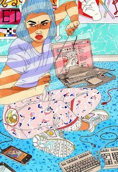 Эксцентричные иллюстрации о женском характере от Лауры Каллаган