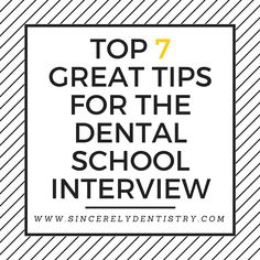How do I ace my Dental School interview?
