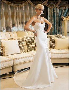 Trumpet/Mermaid Sweetheart Court Train Wedding Dress ( Satin ) - http://www.aliexpress.com/item/Trumpet-Mermaid-Sweetheart-Court-Train-Wedding-Dress-Satin/32317038232.html