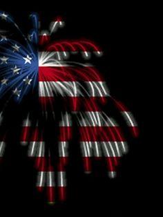 American Flag Fireworks Wallpaper
