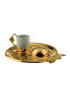 DECORISTAN Traditional Gold Pomegranate Turkish Coffee Set