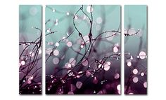This three piece canvas set is designed to be hung parallel to each other to create vivid imagery good to decorate bedrooms or living areas