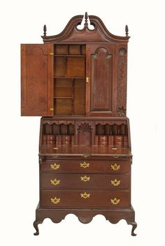 10 Pieces Of Early American Furniture You Should Knowconnecticut Desk And Bookcase
