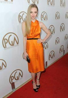Amanda Seyfried in Roland Mouret dress.