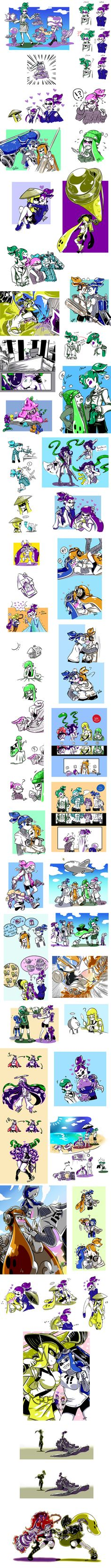 [splatoon] doodle on Tumblr and Twitter 3 by zzoza on DeviantArt