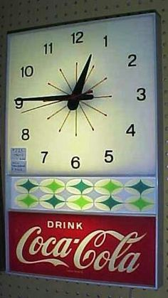 retro Coke clock
