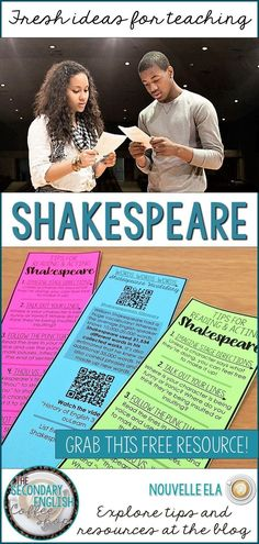Students and teachers alike can think Shakespeare is tired and passé, but it definitely doesn't have to be. Here are five ways to liven up any Shakespeare unit. Get your students more engaged, more creative, and more analytical with these tips from Nouvelle ELA of the Secondary English Coffee Shop blog.
